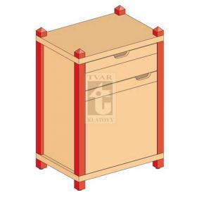Skříňka kombinovaná se zásuvkou