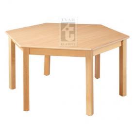 Šestistranný stůl, průměr 120 cm