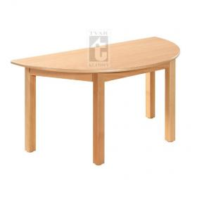 Půlkulatý stůl 120 x 60 cm