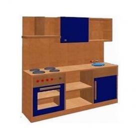 Kuchyňka kombinovaná s horními skříňkami a digestoří