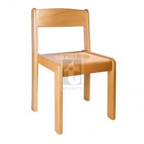 Stohovatelná židle TIM - přírodní provedení