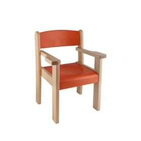 Židle s područkou TIM C/P II - mořený sedák a opěrák