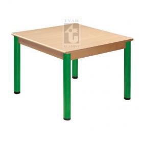Čtvercový stůl 70 x 70 cm / kovové nohy s rektifikační patkou