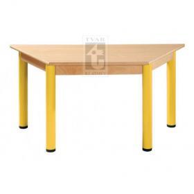 Trapézový stůl 120 x 60 cm / kovové nohy s rektifikační patkou