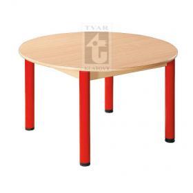 Kulatý stůl prům. 100 cm / kovové nohy s rektifikační patkou