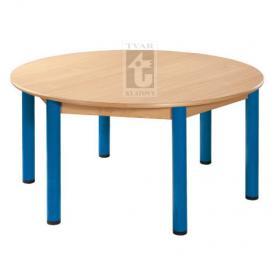 Kulatý stůl prům. 120 cm / kovové nohy s rektifikační patkou