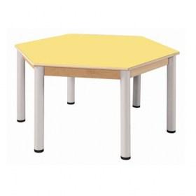 Stůl šestiúhelník průměr 120 cm / výškově stavitelné nohy 58 - 76 cm